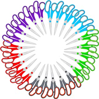 """Scissors Bulk Set of 25-Pack, Niutop 8"""" Multipurpose Sharp Scissors for Office Home High/Middle School Student Teacher Sci..."""