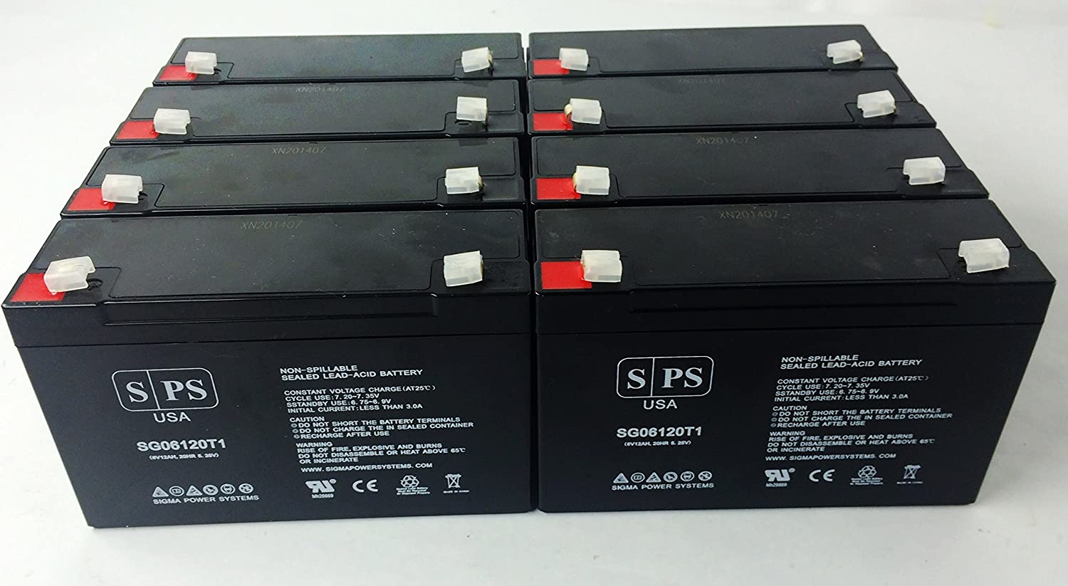 SPS Brand 6V 12Ah Max 41% OFF Replacement Battery Kits APC RBC52 Max 69% OFF UPS for 8