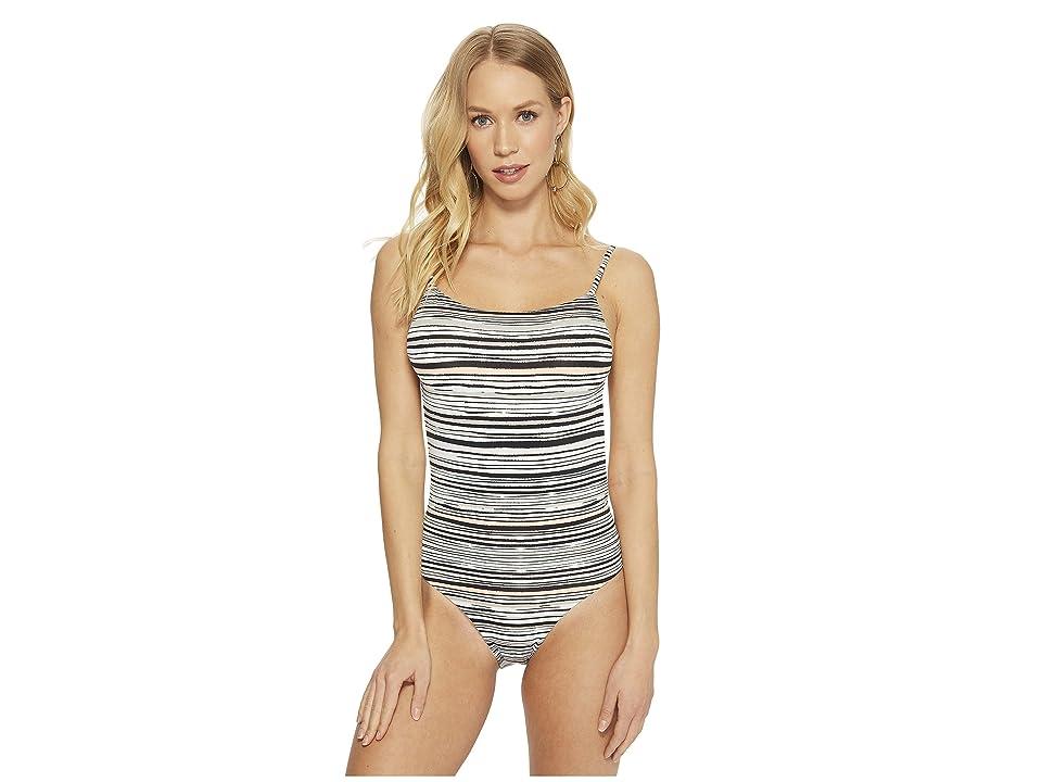 Roxy Girl Of The Sea One-Piece Swimsuit (Marshmallow Alexa Stripe) Women