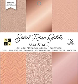 "DCWVE DCWV Specialty Stack-6 x 6-Single-Sided-Solid Rose Golds-Foil and Glitter-18 Seat PS-006-00132, 6"" x 6"""