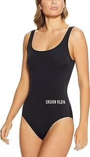 Calvin Klein Women's Intense Power Square Scoop Logo One Piece