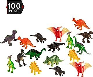 100 قطعه پارتی بسته کوچک دایناسورها - اسباب بازی های پلاستیکی آموزشی کوچک Mini Dinosaur - Gift Party Party Gift