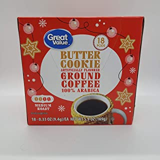 Great Value Holiday Butter Cookie Medium Coffee (18 k-cups)