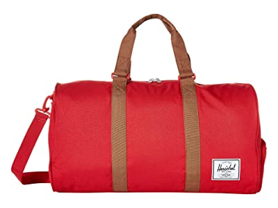 Herschel Supply Co. Novel (Red/Saddle Brown) Duffel Bags