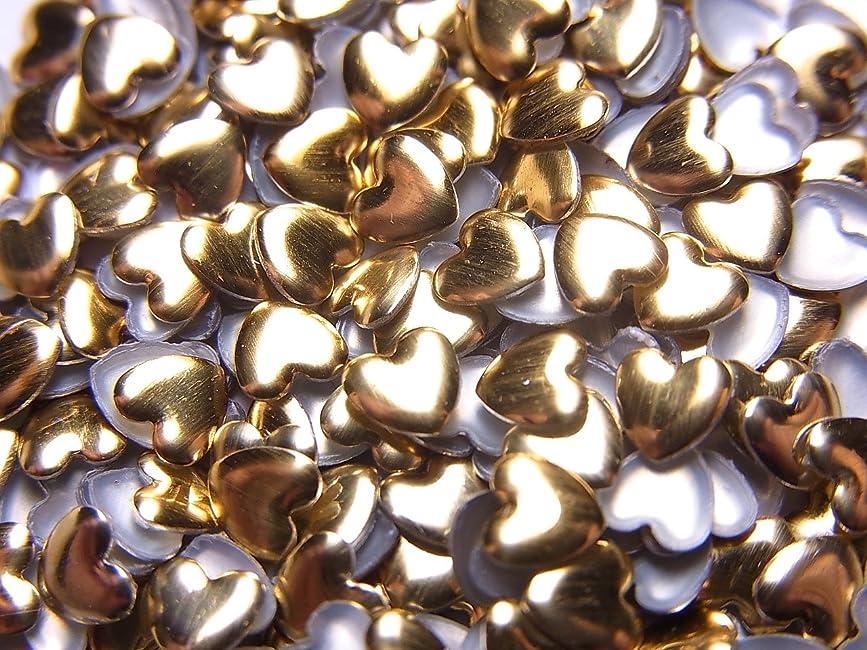 によってレーダー学校【jewel】ハート型 メタルスタッズ 4mm ゴールド 100粒入り