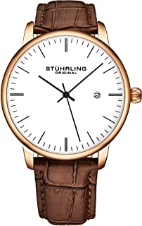Stuhrling Original Mens Watch Calfskin Leather Strap -...