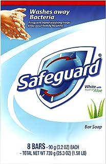 Safeguard 香体香皂,白色含芦荟触感,8 条(6 件装)