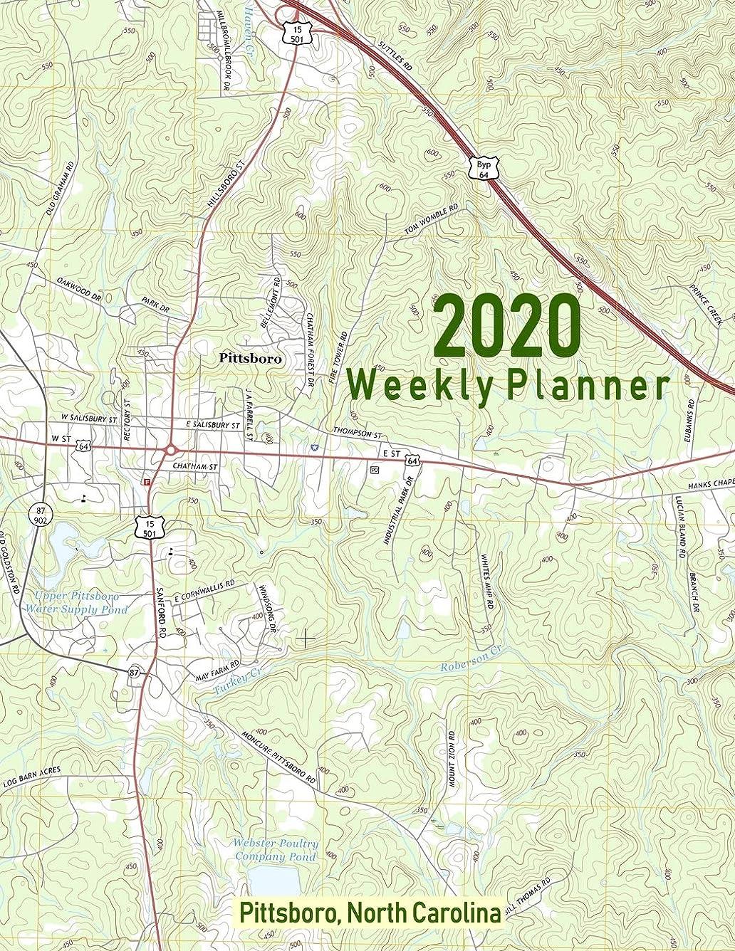 性交人工テメリティ2020 Weekly Planner: Pittsboro, North Carolina: Topo Map Cover