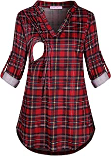 maternity flannel top