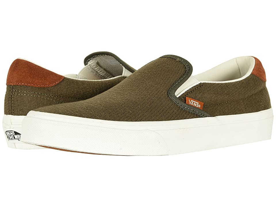 Vans Slip-On 59 ((Flannel) Dusty Olive) Skate Shoes