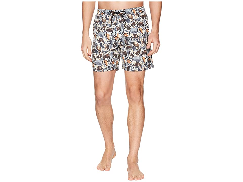 Image of Billy Reid Crab Swim Shorts (Crab) Men's Swimwear