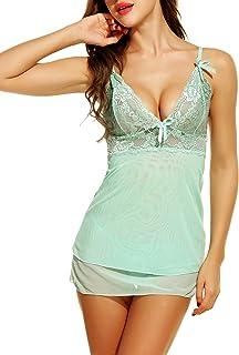 Avidlove Women Babydoll Lingerie Sexy Mini Nightwear Strappy Lace Sleepwear
