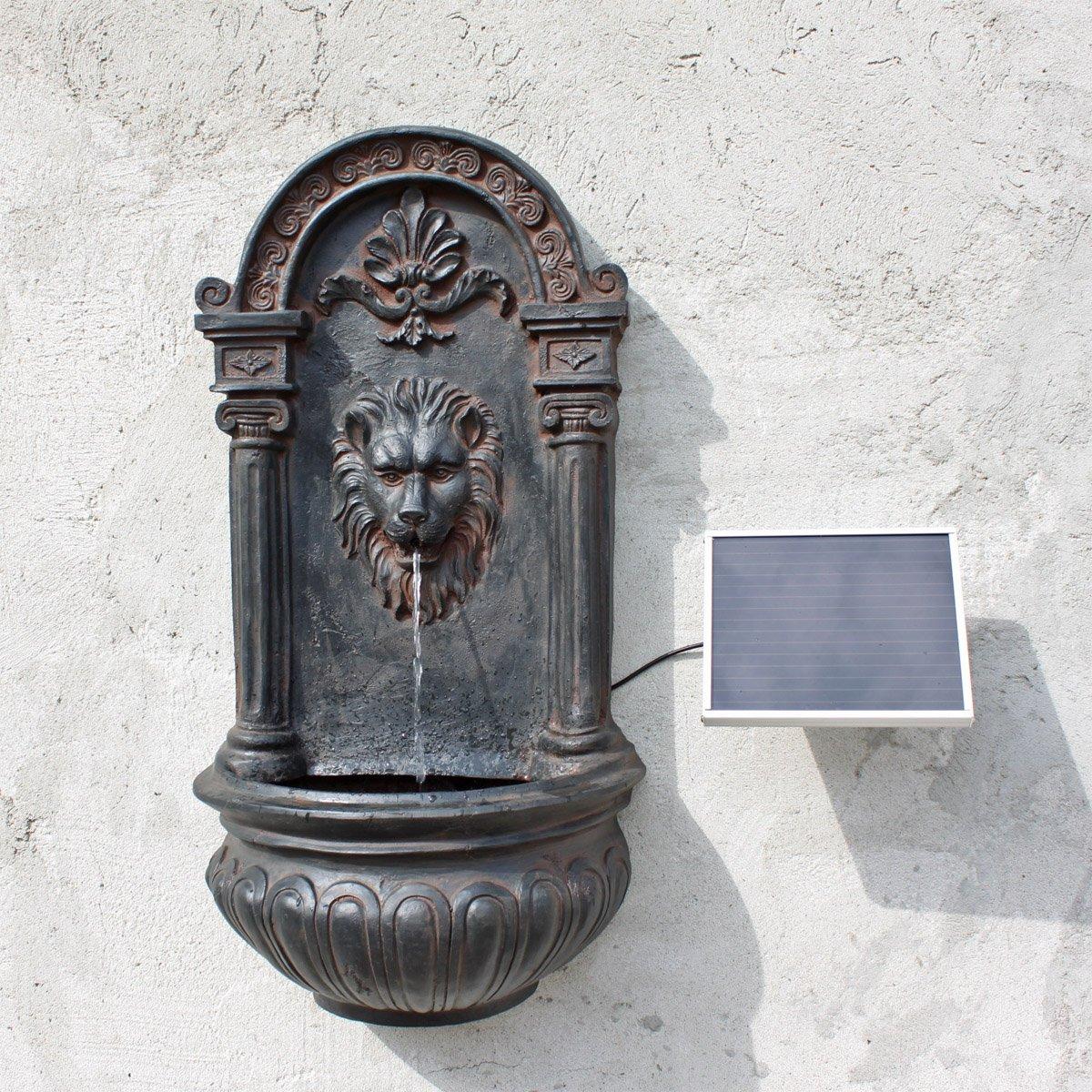 CLGarden NSP8 Fuente de Pared clásica con Unidad Solar, Solar Pared para Fuente con Solar Bomba: Amazon.es: Jardín