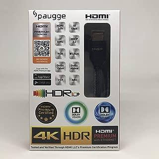 Paugge Hdmi 2.0b Premium Sertifikalı 4K 60Hz 18Gbps HDR Dolby Vision HDCP 2.2 Destekli HDMI Kablo (2 Metre)