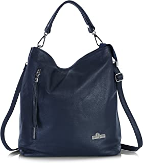 LiaTalia Womens Large Tote Handbag Italian Leather - Large yet Trendy Hobo Bag - GWEN