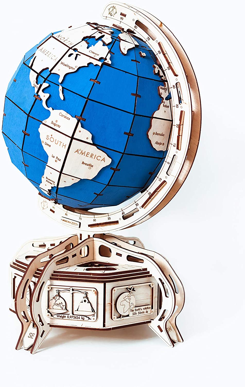 In Legno città Globe Coloreee Blu 50.5x 32x 32cm Coloreee, Taglia Unica