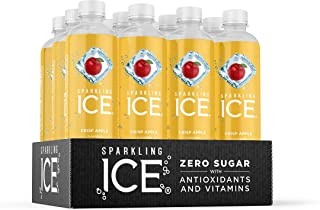 Sparkling Ice, Crisp Apple Sparkling Water, with antioxidants and vitamins, Zero Sugar,..