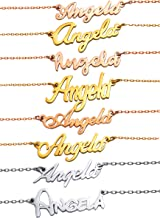 HUAN XUN Personalized Customized Name Initial Necklace Monogrammed Words Girl's Jewelry …