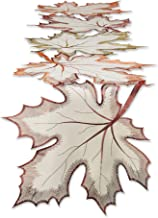 """DII 14x60"""" Polyester Table Runner, Embroidered Maple Leaves - Perfect for Fall, Thanksgiving, Catering Events, or Everyday..."""