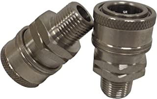 Ultimate Washer Female Coupler, Stainless Steel, 2-Pack (3/8