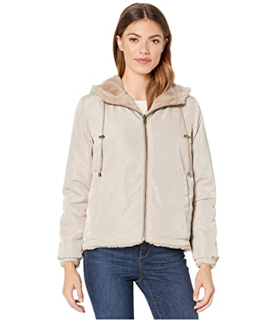 Dylan by True Grit Solid Faux Fur Love Reversible Jacket with Matching Lining (Teddy Brown) Women