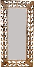 Vriksh Of Life Petals Carved Mirror Frame