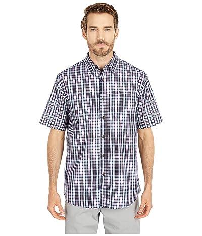 Dickies Short Sleeve Woven Shirt (Navy Plaid) Men