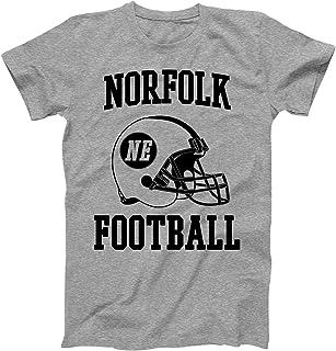 Vintage Football City Norfolk Shirt for State Nebraska with NE on Retro Helmet Style