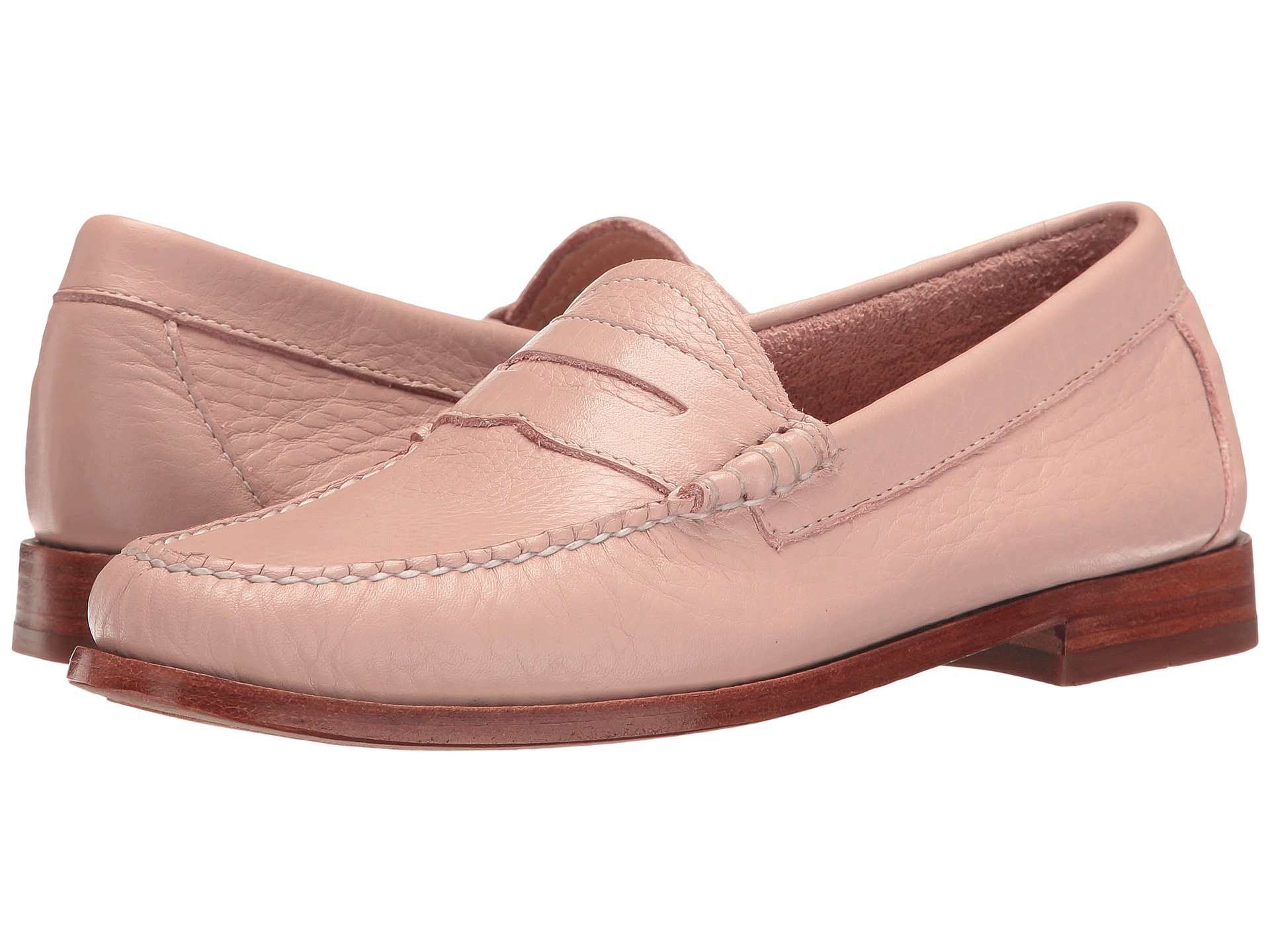 G.H.BASS&CO Whitney Weejuns, Blush Pink Soft Tumbled Leather in Neutrals