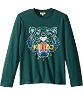 Kenzo Kids - Tiger Long Sleeve T-Shirt (Big Kids)