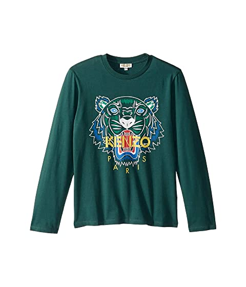 Kenzo Kids Tiger Long Sleeve T-Shirt (Big Kids)