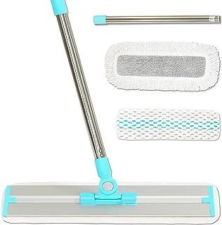 Professional Telescopic Handle Microfiber Hardwood Floor Cleaning Mop (Includes 3 Mop Pads)