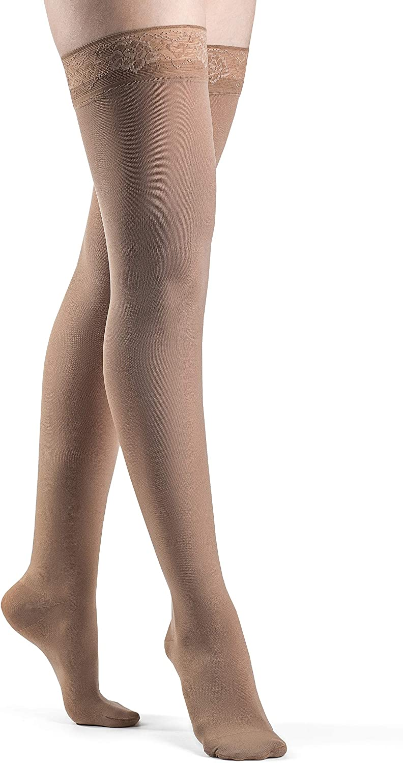 SIGVARIS Women's Style Soft Opaque Closed w Selling and overseas selling Toe Thigh-Highs 840