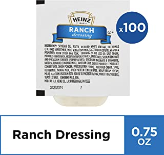 Heinz Ranch Dressing (0.75 oz Packets, Pack of 100)