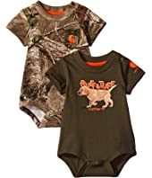 Carhartt Kids - Short Sleeve Camo/Dog Body Body Shirt 2-Pack (Infant)