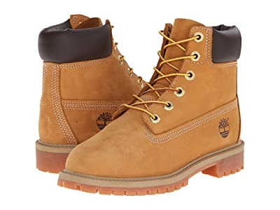 Timberland Kids 6 Premium Waterproof Boot Core (Big Kid) (Wheat Nubuck) Boys Shoes