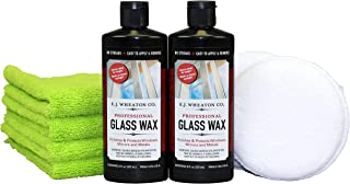 E.J. Wheaton Co. Glass Wax Polishing Kit, Includes Glass Wax (16 fl. oz.), Wax Applicator Pads (2 Each) & Microfiber Towel...