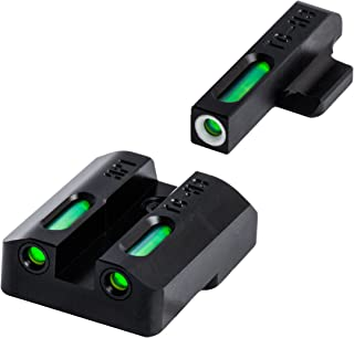 TRUGLO TFX Tritium and Fiber-Optic Xtreme Handgun Sights for H&K VP9, VP40, P30, P30SK, P30L, 45, 45 Tactical (Including Compact)