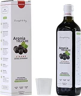 [Aronia Treasure] 100% Siberian aronia berry shots   Antioxidant shots for sports recovery, heart health, immunity  Manage blood pressure, diabetes, inflammation   Gluten free superfood juice drink