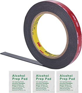 (1 Pack) 3M 0.5 Inch Width 15 Ft Length VHB 5952 Black Heavy Duty Multipurpose Double Sided Tape