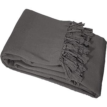 Basics un lato lavorato a maglia m/élange e un lato in pile Sherpa Coperta double-face 150 x 200 cm Grigio