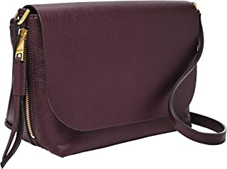 Fossil Women's Maya Leather Small Flap Crossbody Purse Handbag