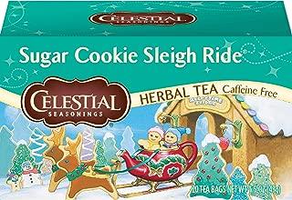 Celestial Seasonings Herbal Tea, Sugar Cookie Sleigh Ride, 20 Count Box