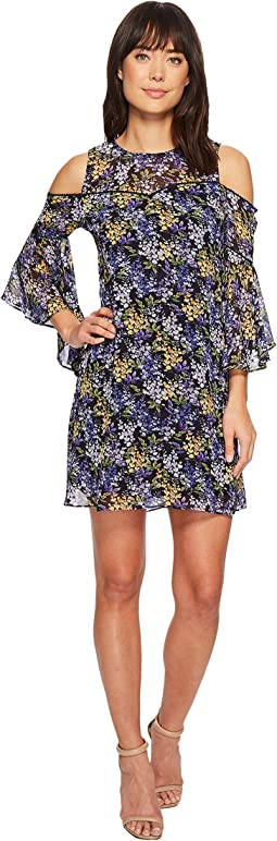 CeCe - Lydia - Cold Shoulder Bell Sleeveless Floral Dress