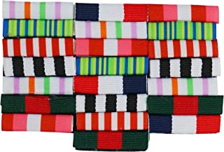 Skeleteen Military Combat Medal Ribbons - Pretend Army War Hero Costume Accessories Ribbon Medals Pins