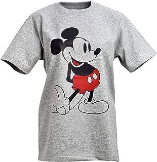 [Chara Park] ミッキーマウス プリントTシャツ ユニセックス S M L ホワイト グレー