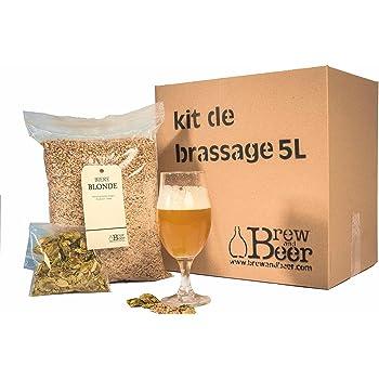 Kit de elaboración de cerveza rubia 5L Brewandbeer: Amazon.es: Hogar
