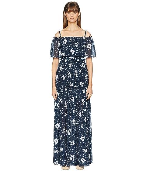 ML Monique Lhuillier Printed One Shoulder Dress