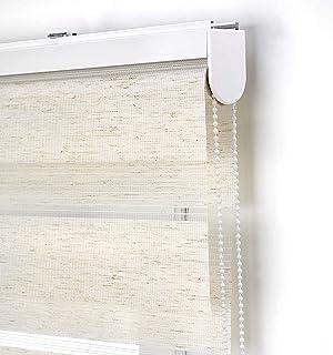 Estoralis Vera Estor Enrollable Doble Tejido, Noche y día, Crudo 105 x 175 cm