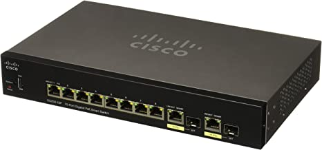 CISCO SYSTEMS Sg250-10P 10-Port Gigabit PoE Switch (SG25010PK9NA)